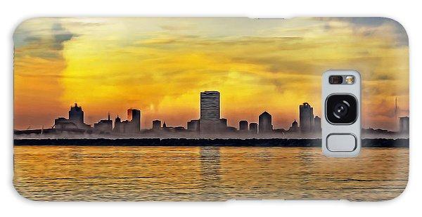 Sunset Over Milwaukee Galaxy Case