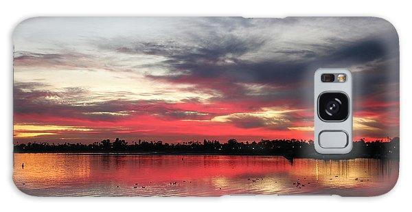 Sunset Over Mission Bay  Galaxy Case by Christy Pooschke