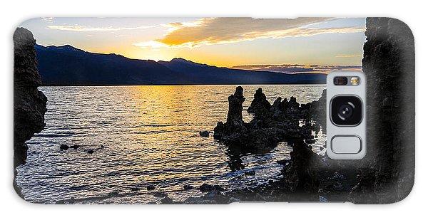 Sunset Over Mono Lake Galaxy Case