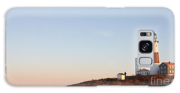Sunset Over Montauk Lighthouse Galaxy Case by John Telfer