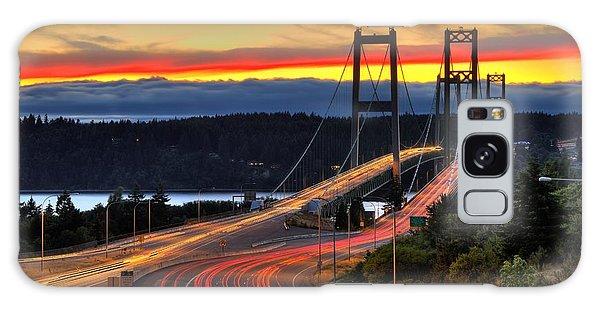 Sunset Over Narrows Bridges Galaxy Case