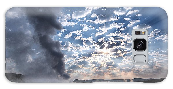 Sunset Over Old Faithful - Horizontal Galaxy Case by Andres Leon