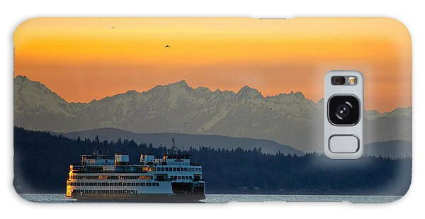 Sunset Over Olympic Mountains Galaxy Case