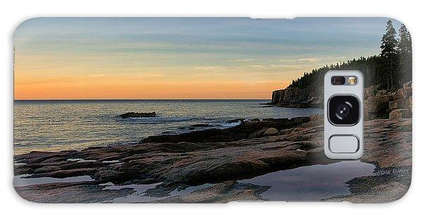 Sunset Over Otter Cliffs Galaxy Case