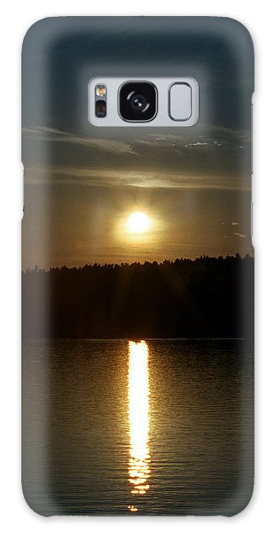 Sunset Over Pickerel River Sun 91 Galaxy Case