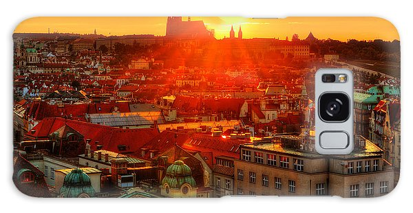 Sunset Over Prague Galaxy Case