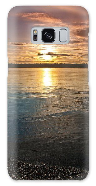 Sunset Over Puget Sound Galaxy Case by Jeff Goulden