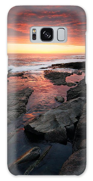 Ocean Sunset Galaxy S8 Case - Sunset Over Rocky Coastline by Johan Swanepoel