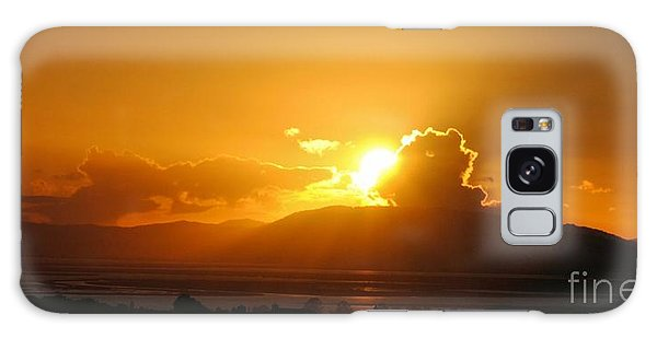 Sunset Over San Pablo Bay Galaxy Case