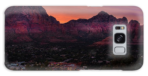 Sunset Over Sedona Az Galaxy Case