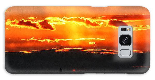 Sunset Over Sound Galaxy Case