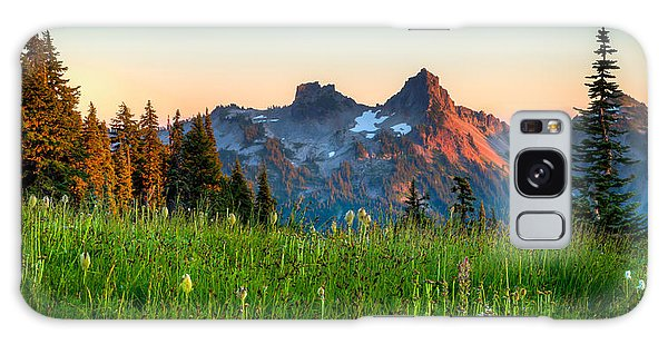 Sunset Over Tatoosh Galaxy Case