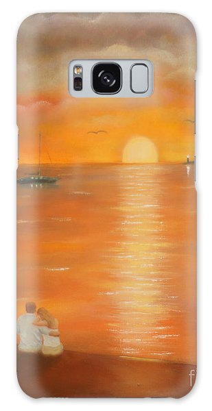Sunset Over The Bay Galaxy Case