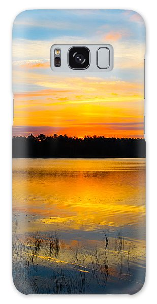 Sunset Over The Lake Galaxy Case