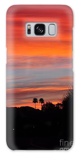 Sunset Over The Mountains Galaxy Case