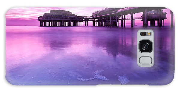 Sunset Over The Pier Galaxy Case by Mihai Andritoiu