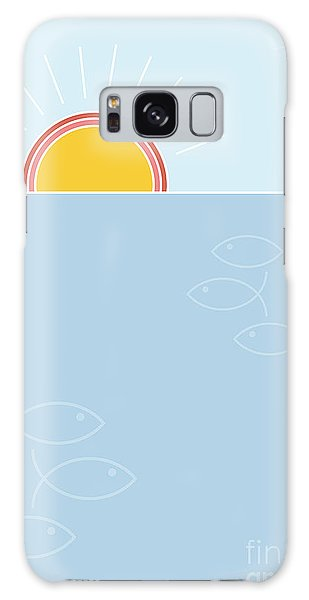 Concept Galaxy Case - Sunset Over The Sea Background, Flat by Lucky Team Studio