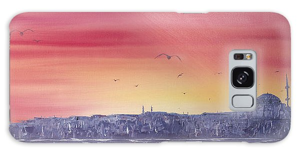 Sunset Over The Sea Of Marmar Galaxy Case