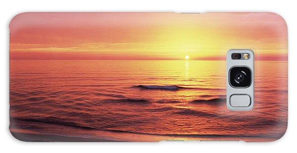 Sunset Over The Sea, Venice Beach Galaxy Case