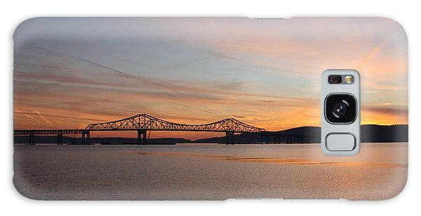 Sunset Over The Tappan Zee Bridge Galaxy Case