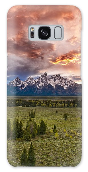 Sunset Over The Tetons  Galaxy Case