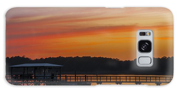 Sunset Over The Wando River Galaxy Case by Dale Powell