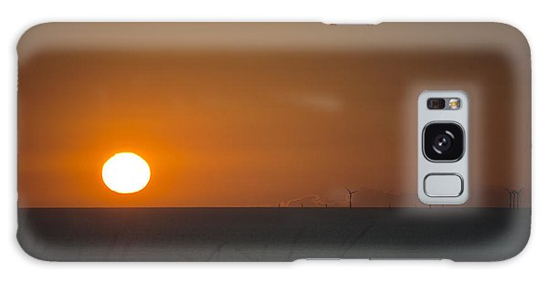 Sunset Over The Windfarm Galaxy Case by Spikey Mouse Photography