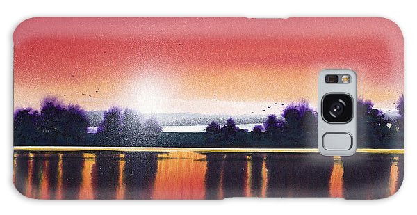 Sunset Over Two Lakes Galaxy Case