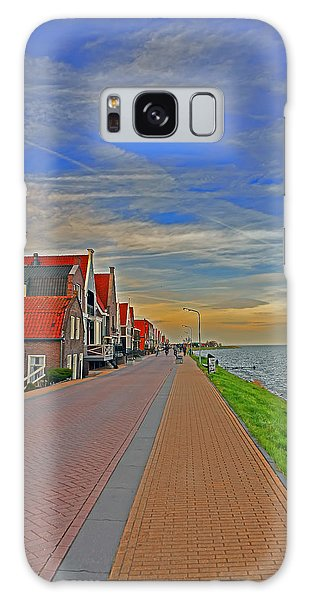 Sunset Over Volendam Galaxy Case