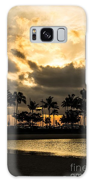 Sunset Over Waikiki Galaxy Case by Angela DeFrias