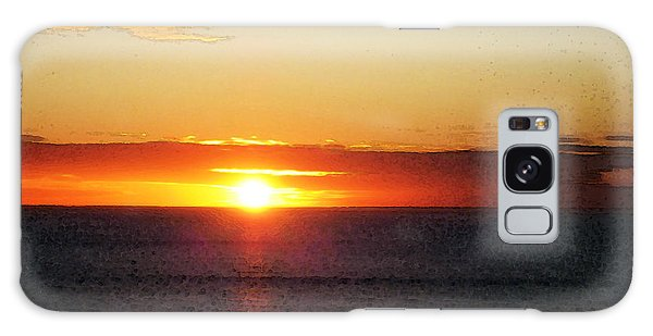 Beach Sunset Galaxy Case - Sunset Painting - Orange Glow by Sharon Cummings