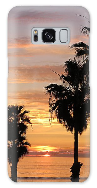 Sunset Palms Galaxy Case by Charles Ables