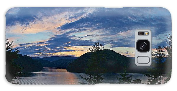 Sunset Pano - Watauga Lake Galaxy Case