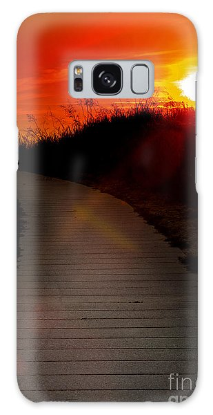 Sunset Path Galaxy Case