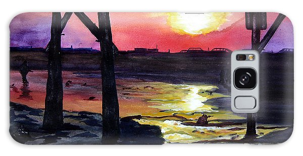 Sunset Pier Galaxy Case by Lil Taylor