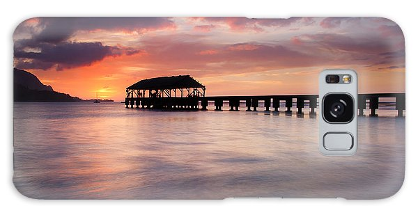 Sunset Pier Galaxy Case