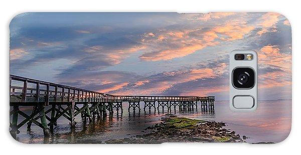 Sunset Pier Galaxy Case