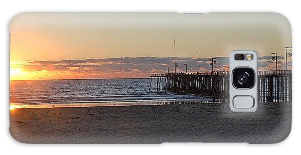 Sunset Pismo Beach Pier Galaxy Case