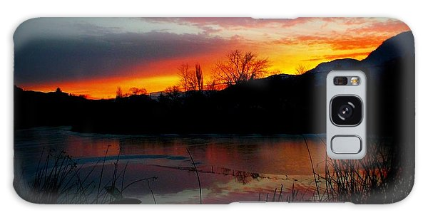 Sunset Pond Galaxy Case by Guy Hoffman