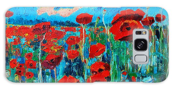 Sunset Poppies Galaxy Case by Ana Maria Edulescu