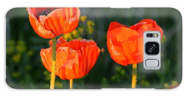Sunset Poppies Galaxy Case by Debbie Oppermann