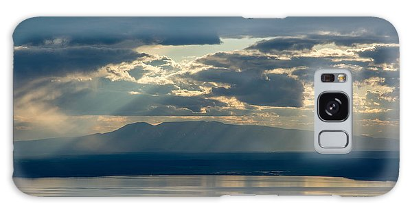 Sunset Rays Over Mount Susitna Galaxy Case