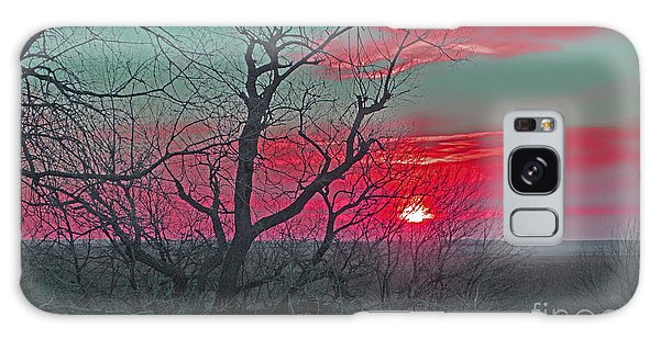 Sunset Red Galaxy Case by Renie Rutten