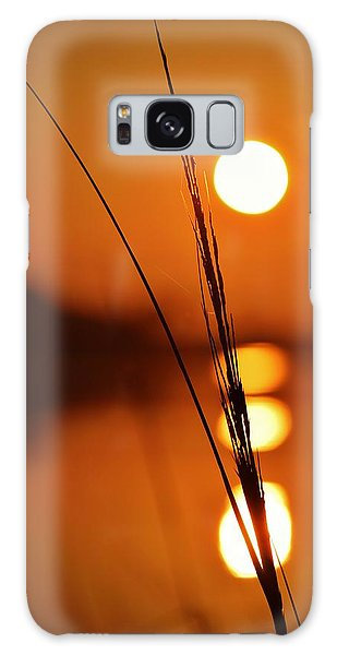 Sunset Reed Galaxy Case by William Bartholomew