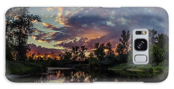 Sunset Reflections Galaxy Case