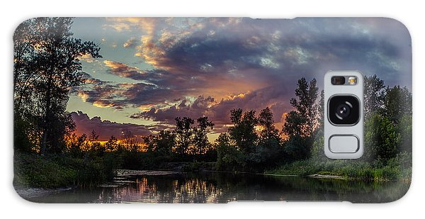 Sunset Reflections Galaxy Case