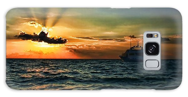 Sunset Regatta  Galaxy Case