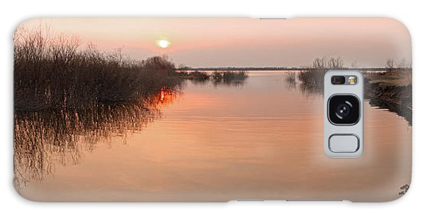 Sunset  River Panorama Galaxy Case