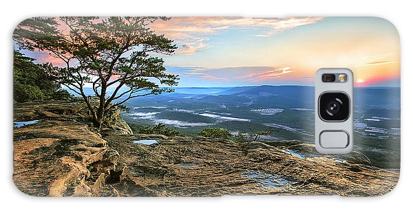 Sunset Rock Lookout Mountain  Galaxy Case