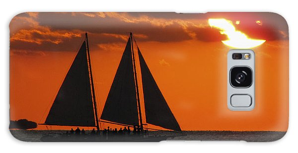 Key West Sunset Sail 3 Galaxy Case